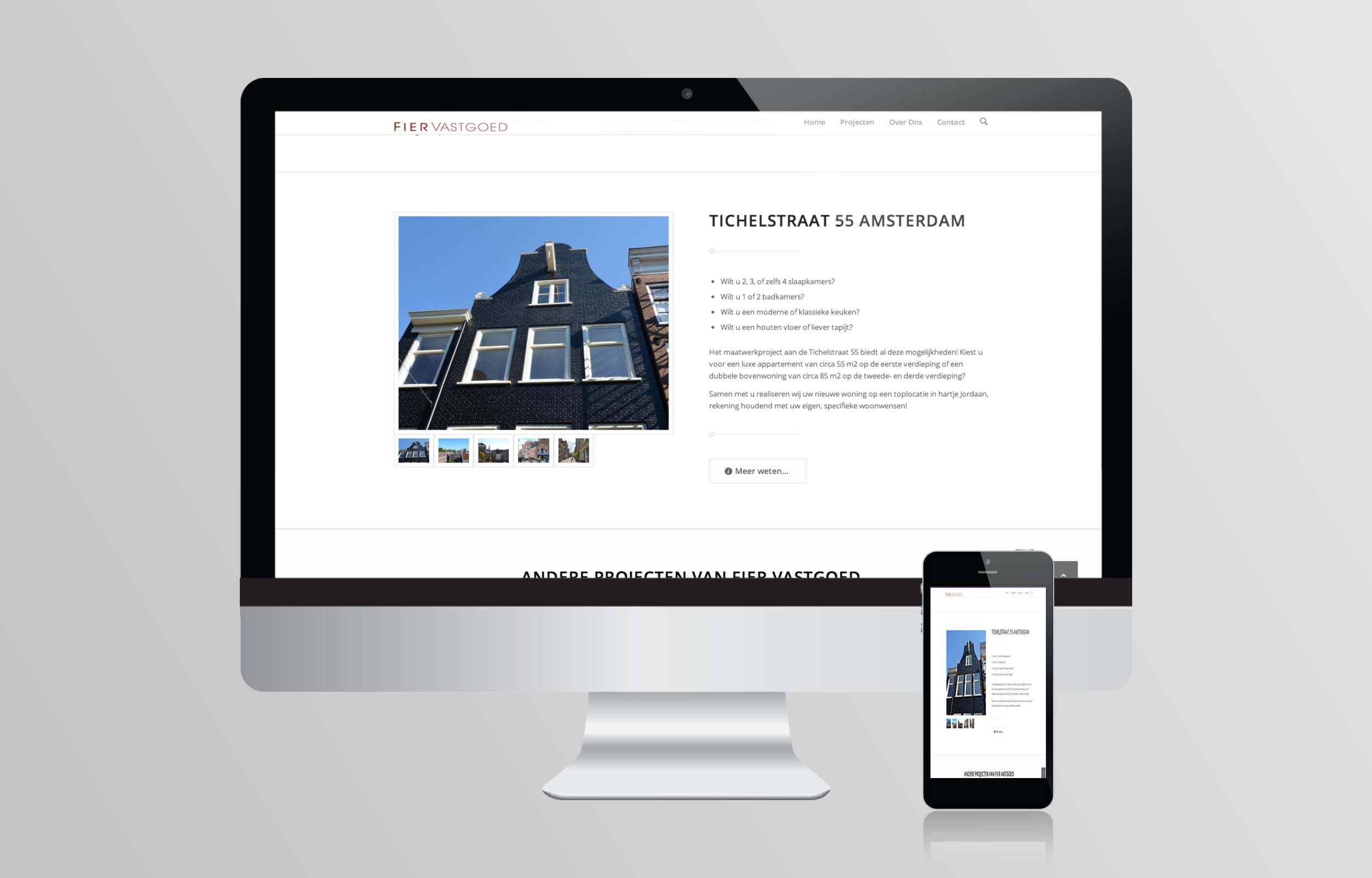 Website ontwerp Fier Vastgoed