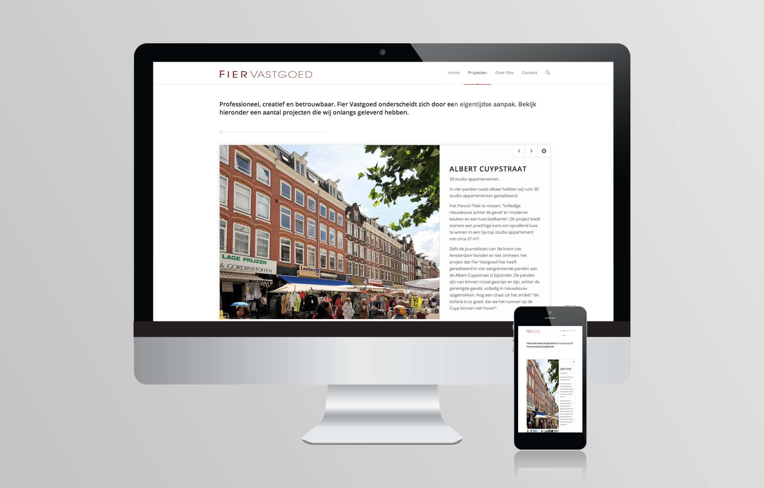 website ontwerp - Fier Vastgoed