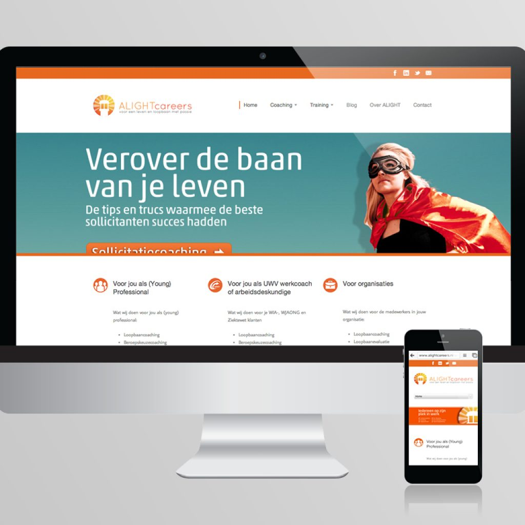 Website ontwerp Alight Careers