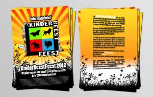 Kinder Beest Feest Flyer ontwerp