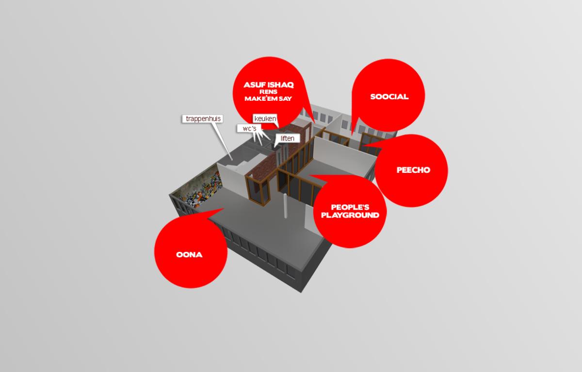 3D plattegrond Rokin 75