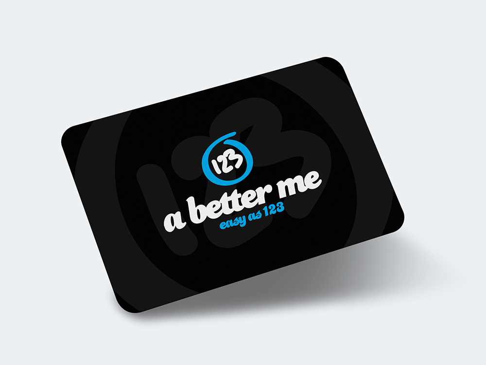 Rounded business card – Mockup