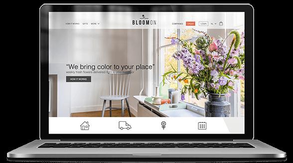 website ontwerp bloomon