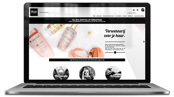 website ontwerp hizi hair