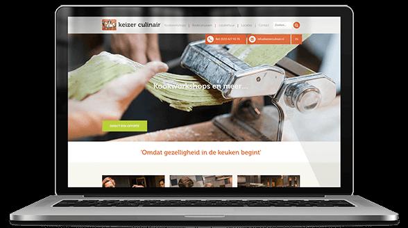 website ontwerp keizer culinair