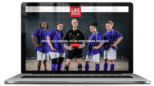 website ontwerp life goals