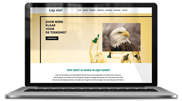 website ontwerp tiny riot