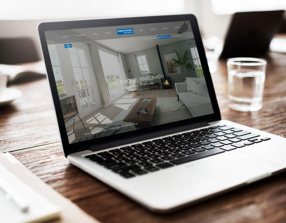 Mossel Makelaars Destkop Website Green Creatives