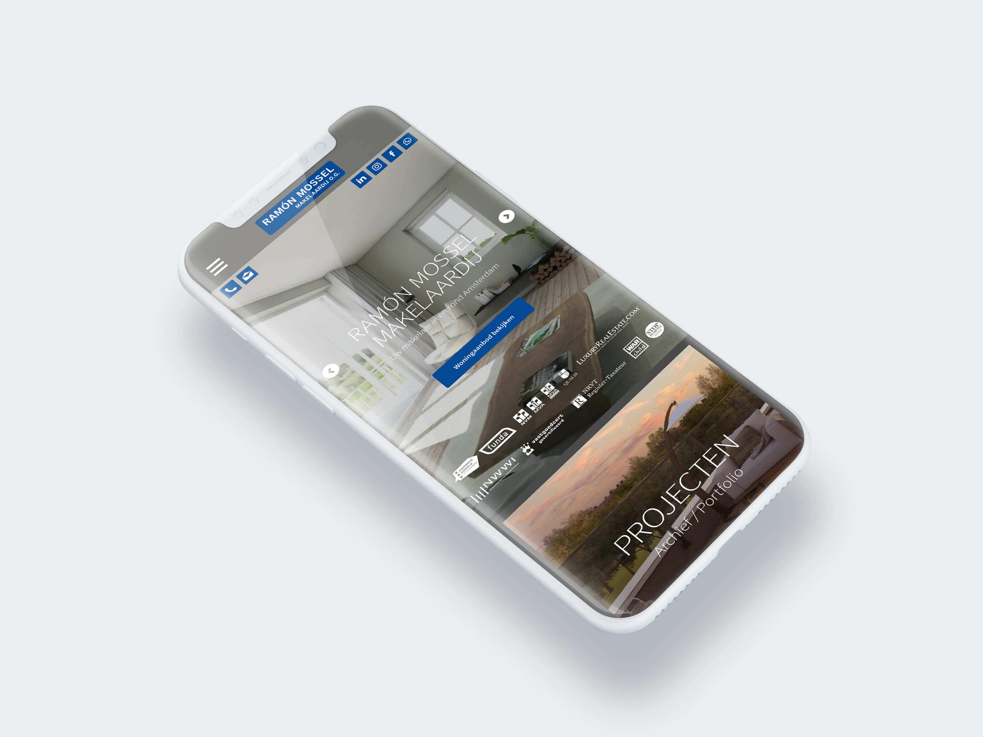Mossel Mobiele Website Green Creatives