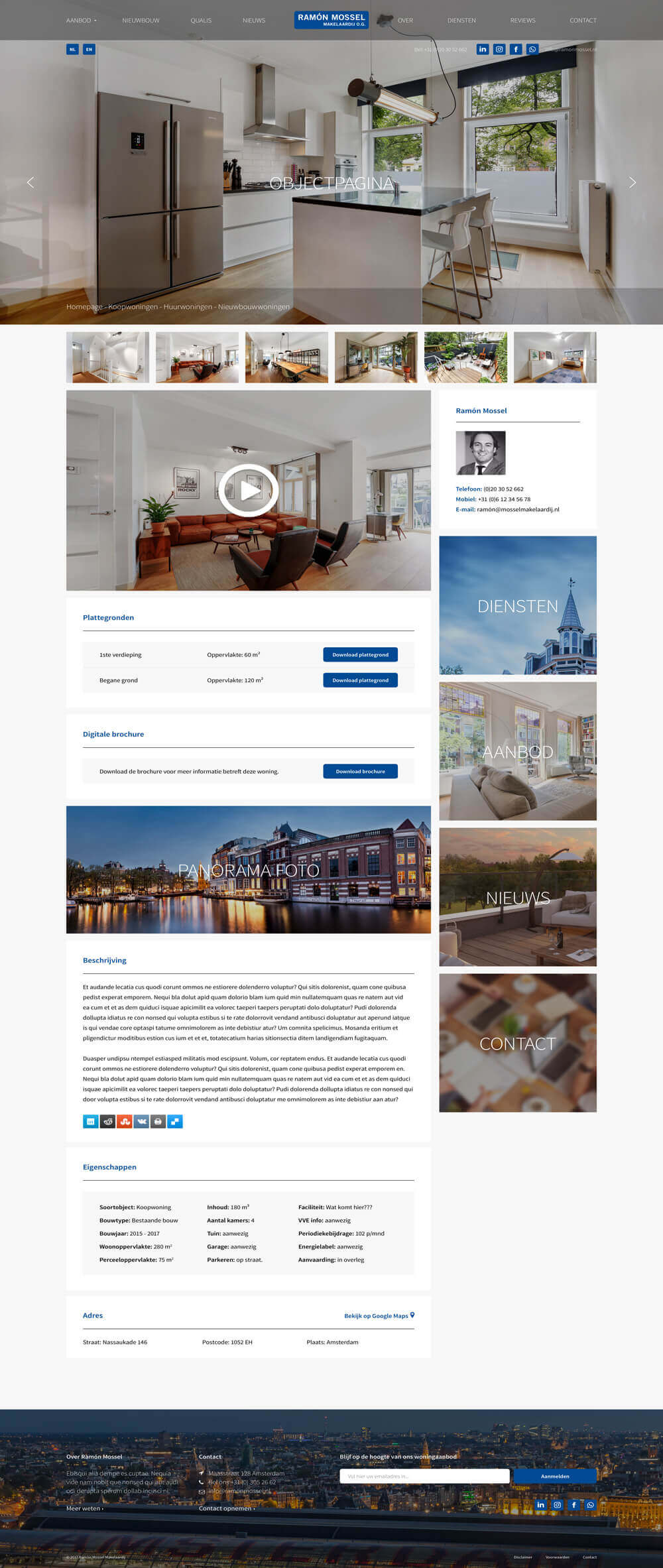 Mossel Makelaars Website Green Creatives