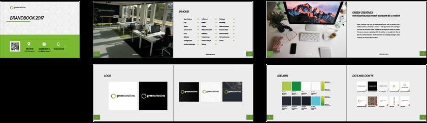 Overzicht Brandbook Green Creatives