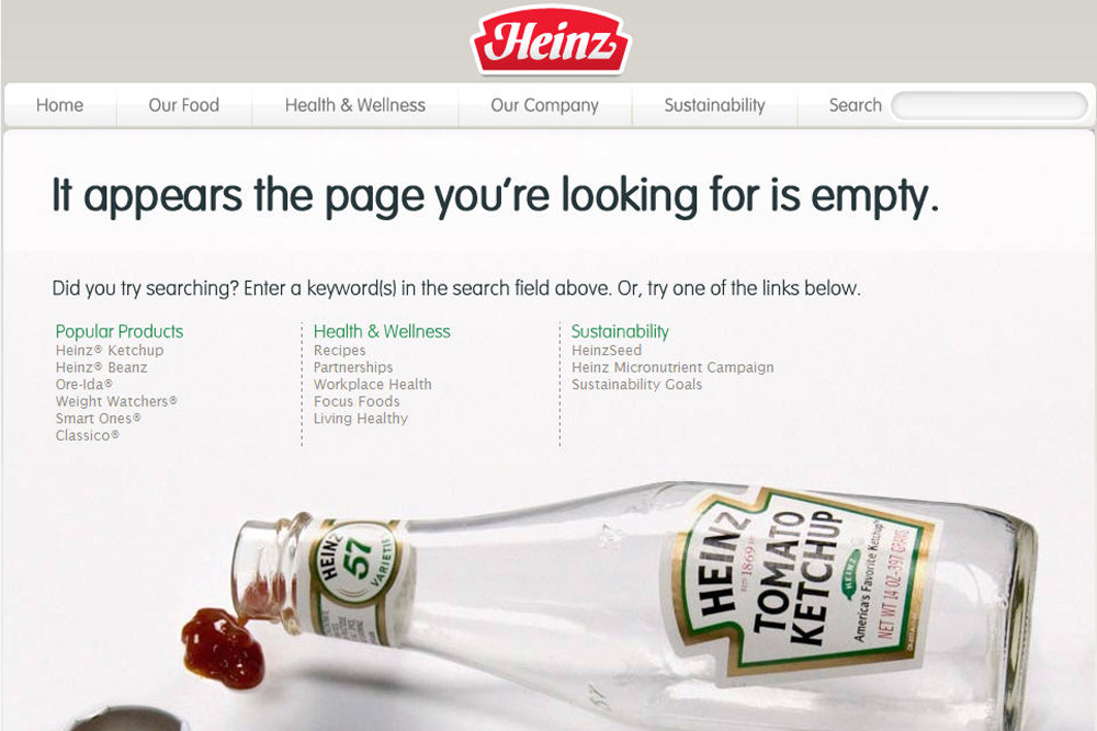 Heinz 404-pagina Greencreatives