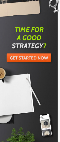 Banner Time for a good strategy? Get started now - link naar offerte aanvragen